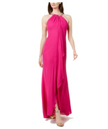 Calvin Klein Women's Sequin Neck Maxi, Fuchsia, 6 - $89.09
