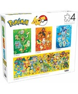 Buffalo Games POKEMON PUZZLES 4 n 1 Multipack Fire, Water, Grass, Panoramic NEW - $29.69