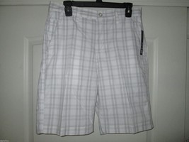 APT.9 Big Plaids Cotton Men' Shorts 100 White 32 (30 in tagged label) $4... - $20.51