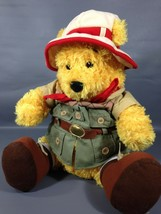 "Disney Safari Winnie Pooh Bear Plush Large 12"" Stuffed Animal Red Bandanna Hat  - $24.99"