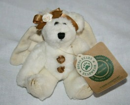 "Boyds Bears Cassie GoodNight Teddy Bear 6"" Small Ivory Angel Wing Plush ... - $12.57"