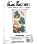Flag Factory Luck of Irish pattern 63537 DIY patio porch yard art clover... - $7.77