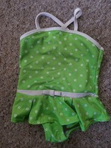 CIRCO Green Floral Print Skirted Bathing Suit Girls 18 months - $2.88
