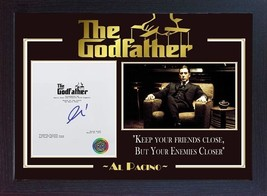 Al Pacino film The Godfather signed autograph Movie Michael Corleone Framed - $19.27