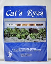 Pegasus Originals Cat's Eyes Counted Cross Stitch Kit #K-204 NEW Sealed - $18.95
