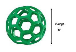 Dog Toy Hol-ee Roller Rubber Ball Toys for Dogs Tough Insert Treats Choo... - £17.77 GBP