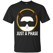 Just A Phase , Solar Eclipse 2017 Cat Humor TShirt - ₹1,574.70 INR+