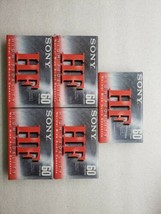 Sony 60 Min Blank Audio Cassette Tapes HF High Fidelity Normal Bias Lot of 5 New - $19.79