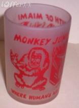 1960'S Retro Hazel ATLAS-- Frosted Souvenir Monkey Jungle Florida Glass Tumbler - $8.95