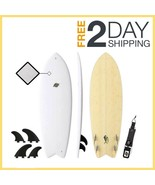 Hybrid 5'8 Mahi Fish Surfboard Surfboard for All Levels of Surfing Fish ... - $593.00