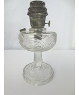 VINTAGE  ALADDIN   WASHINGTON  DRAPE  OIL  LAMP  MODEL B BURNER WAVY GLASS - $100.00