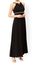 MONSOON Giselle Black Jersey Maxi Dress Size UK 14 BNWT - $97.78