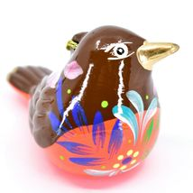 Handcrafted Painted Ceramic Robin Confetti Ornament Made in Peru image 4