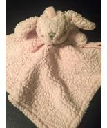 Blankets & Beyond Pink BUNNY RABBIT  Security Blanket Lovey Sherpa - $9.00