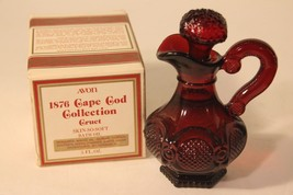 Avon Ruby Red 1876 Cape Cod Cruet wih Skin-So-Soft Bath Oil Original Box... - $28.04