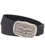 Levi's Men's Stylish Premium Big Buckle Genuine Leather Belt Black 11LV02P6 - $24.69