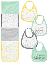 Simple Joys by Carter's Baby 8-Pack Burp Cloth and Bib Set, Lamb/Giraffe... - $21.77