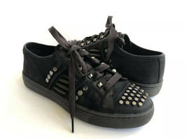 UGG BIKER CHIC SNEAKERS BLACKS SHEARLING SLIP ON SHOES US 10 / EU 41 / U... - $116.88