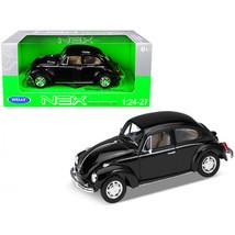 Volkswagen Beetle Black 1/24-1/27 Diecast Model Car by Welly 22436bk - $29.91