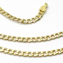 18K YELLOW GOLD GOURMETTE CUBAN CURB CHAIN 2 MM, 17.7 inches, NECKLACE image 2