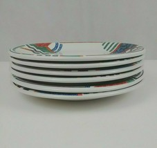 Gibson Housewares Set of 6 Dinner Plates With Multicolor Aztec Design  - $32.71