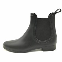 JC Play By Jeffrey Campbell Womens Forecast Chelsea Rain Boots Black 10 New - $24.93