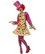 Smiffys Women's Clown Lady Costume, Hooped Dress, Shirt, Bow Tie, Stripy... - $24.97
