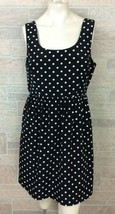 Forever 21 Black White Polka Dot Sleeveless Dress Size Large - $12.86