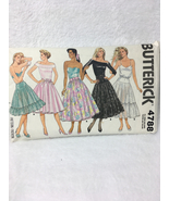 Butterick 4788 Womans Petticoat and Skirt Sewing Pattern Size P, S, M - $8.00