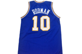 Dennis Rodman #10 Oklahoma Savages Men Basketball Jersey Blue Any Size image 2