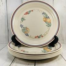 """Corelle Abundance Fruit 8-1/2"""" Luncheon Plates Set of 6 GC Corning Indented - $59.39"""