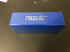 Lot of 1 Used PCGS Blue Box Plastic Storage Box Holder- Holds 20 Slabs! - $6.80