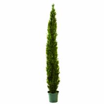 """8' Mini Cedar Pine Tree W/4249 Tips In 12"""" Pot (Two Tone Green) - $318.70"""