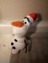 "TY DISNEY OLAF  STUFFED PLUSH  7""--SPARKLE----FREE SHIP--VGC - $7.37"