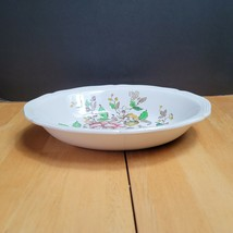 Royal Doulton Monmouth Oval Serving Bowl 9 Inch Pink Blue & Yellow Flowers  - $34.60