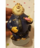 "4"" CLAWHAUSER Disney ZOOTOPIA Cheetah Police TOY PVC FIGURE Cake Topper ... - $15.83"