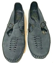 Dexter Womens USA Comfort Classic Blue Leather T-Strap Loafers 8.5M - $25.60