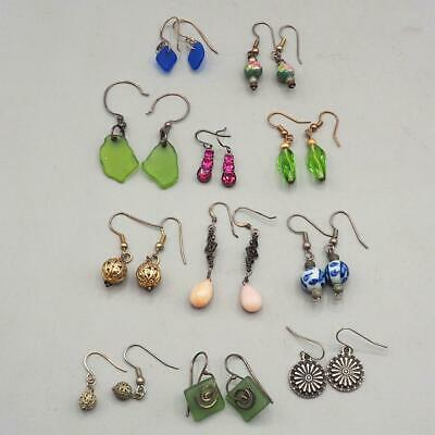 Vintage Lot of 11 Colorful 1990's Earrings Dangle
