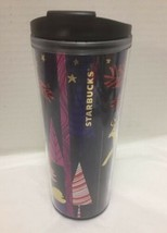 Starbucks Forest Animals Travel Coffee Mug 2017 Red Gold Purple - $23.36