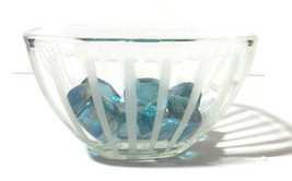 Mikasa Retro Candy Bowl Dish with Vintage Glass Rocks Blue 6 inch - $19.79