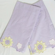 Pottery Barn Kids Embroidered Floral Sun and Clouds Lavender 2-PC Valance Set(s) - $32.00