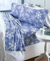 CHRISTMAS SNOW MAN FLAKE JOY TREE SHEET PILLOW CASE SET Festive Cabin Fl... - $32.99+