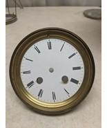 Antique Vintage Porcelain Clock Dial & Bezel Part - $16.82