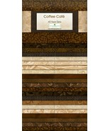 Jelly Roll-Coffee Cafe-40 Strips-Wilmington Prints-Dups-Lt. & Dark Browns - $39.95