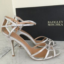 Badgley Mischka Kerrington Antique Silver Stingray Women's High Heels Sa... - $212.85