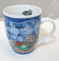 History & Heraldry Marvelous Manager Coffee Mug In Great Shape 4 Inches  - $29.69