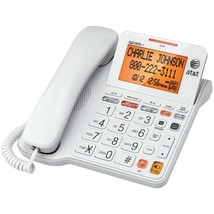 AT&T CL4940 Corded Phone with Answering System & Large Tilt Display - $57.91