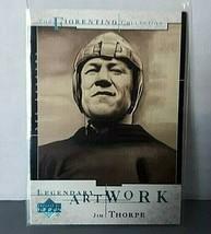 2001 Upper Deck Legends Legendary Artwork #LA1 Jim Thorpe Insert Card - $6.92