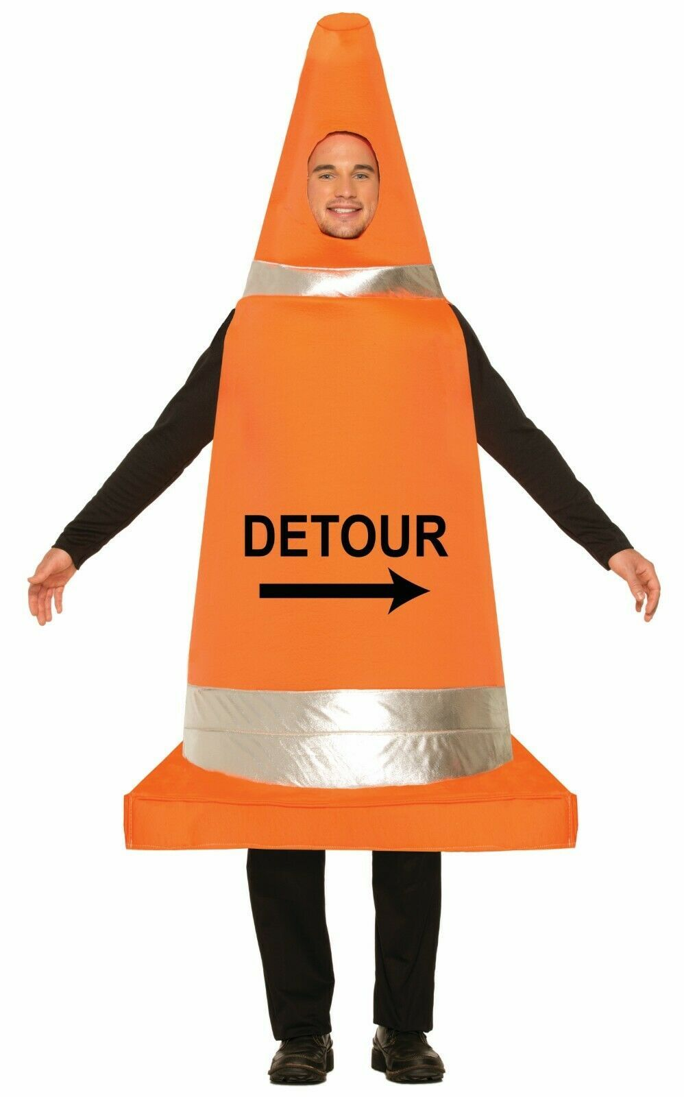 Forum Novelties Traffic Cone Construction Adult Mens Halloween Costume 74991