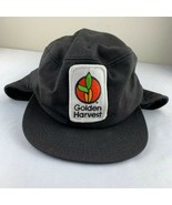 Vintage Golden Harvest Feed Seed Fitted Winter Flap Legend USA 80s Patch... - $19.99